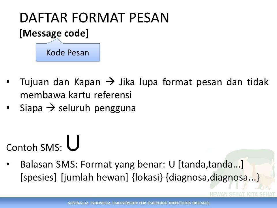 DAFTAR FORMAT PESAN [Message code]